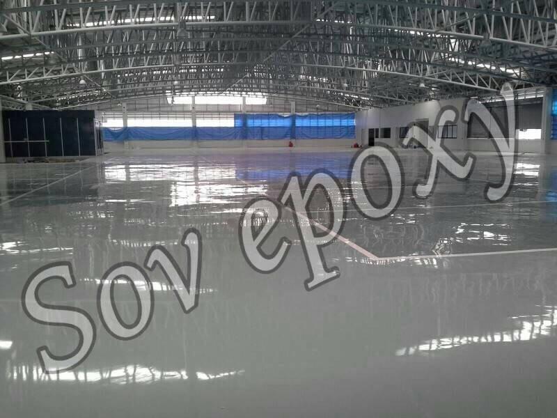 งานพื้น Epoxy Self leveling งานโชว์รูมโตโยต้าไทยเย็น 1