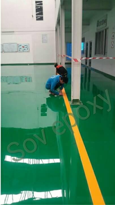งานนพื้น  Epoxy  Self leveling โรงงาน จ.ชลบุรี 1
