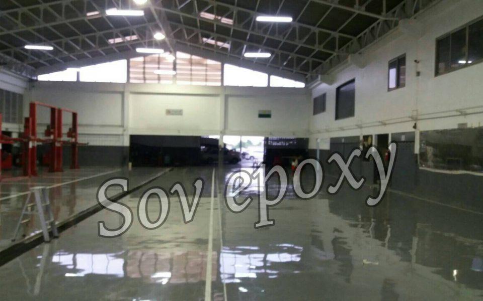 โครงการโชว์รูมนิสสัน จ.สระบุรี งานเคลือบพื้น Epoxy Self leveling