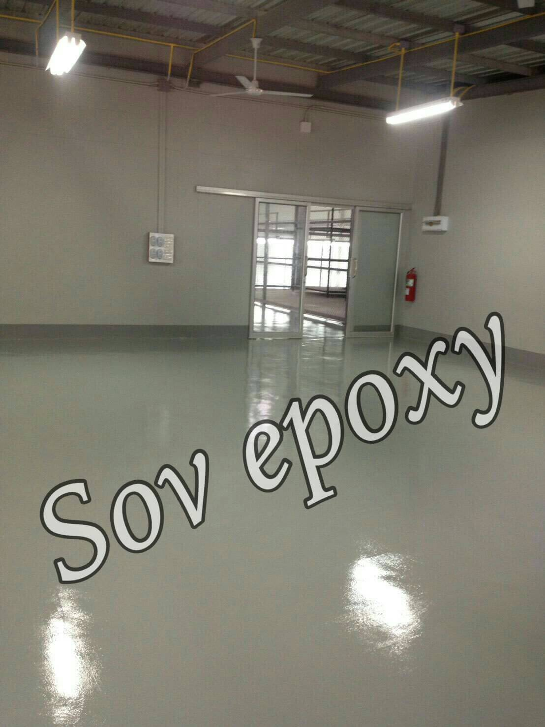 งานพื้น Epoxy Coating โครงการโรงงานนิสา ผลิตชุดชั้นใน จ.กาญจบุรี พื้นที่ 1,900 ตรม 1