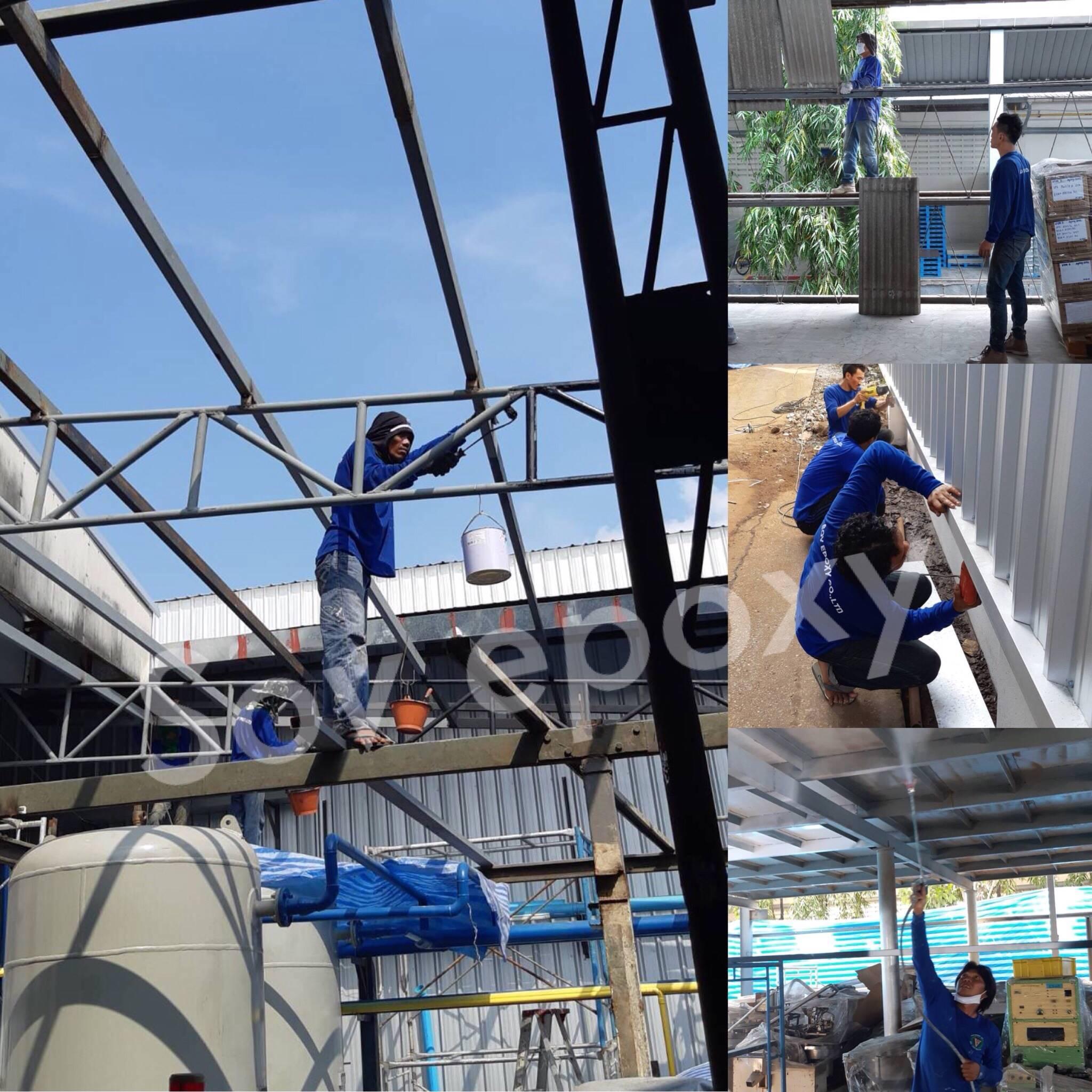 ปรับปรุงโครงเคร่าเหล็ก โรงงานจินซาน อาคาร 2 1