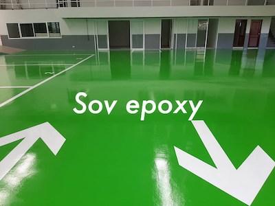เคลือบพื้น Epoxy Coating โชว์รูมซูซุกิ พนัสนิคม 1