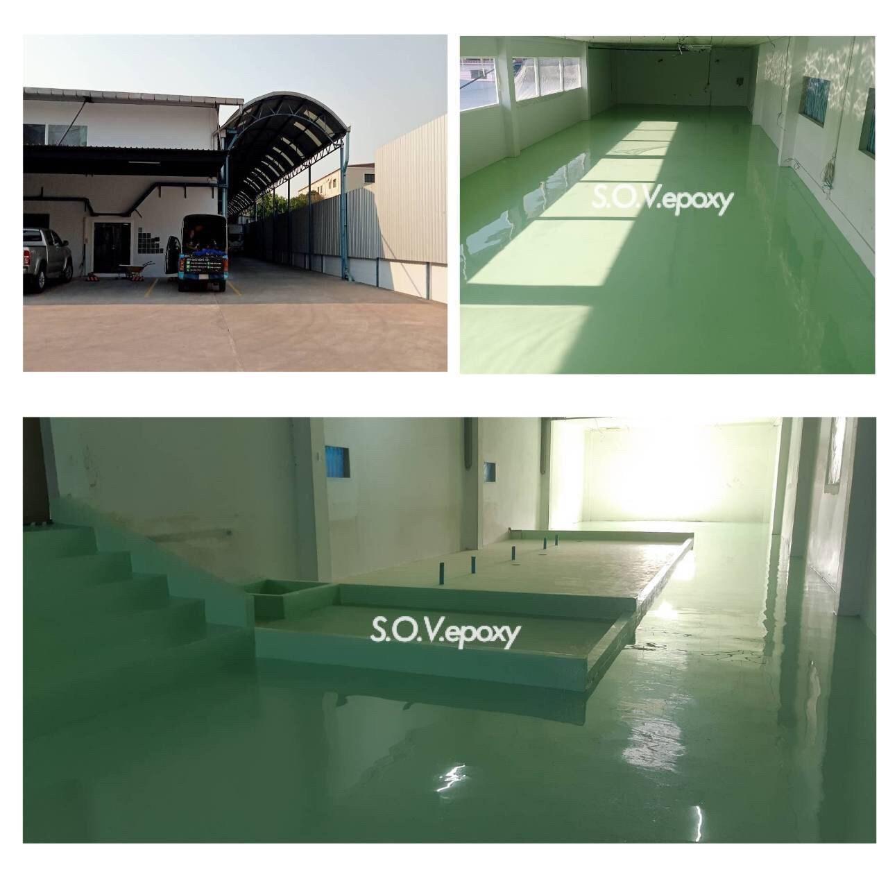 SOV Epoxy บริการงานพื้นอีพ็อกซี่ พื้นพียู พื้นโรงงาน พื้นสนามกีฬา กันซึมดาดฟ้า 7