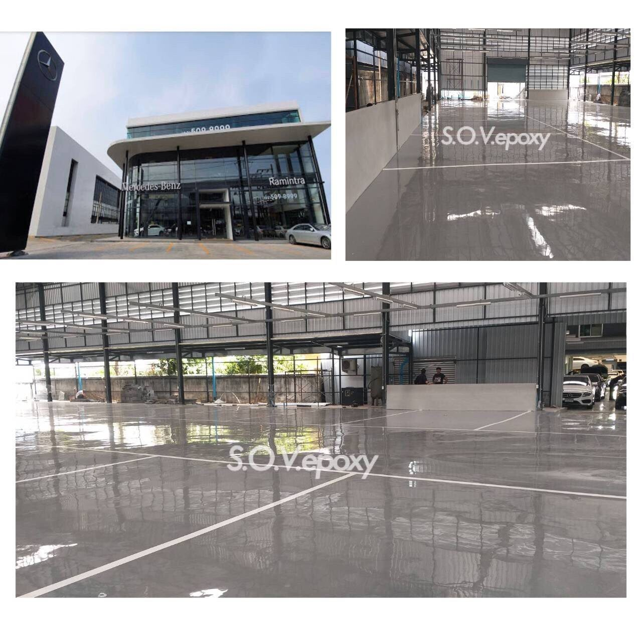 SOV Epoxy บริการงานพื้นอีพ็อกซี่ พื้นพียู พื้นโรงงาน พื้นสนามกีฬา กันซึมดาดฟ้า 6