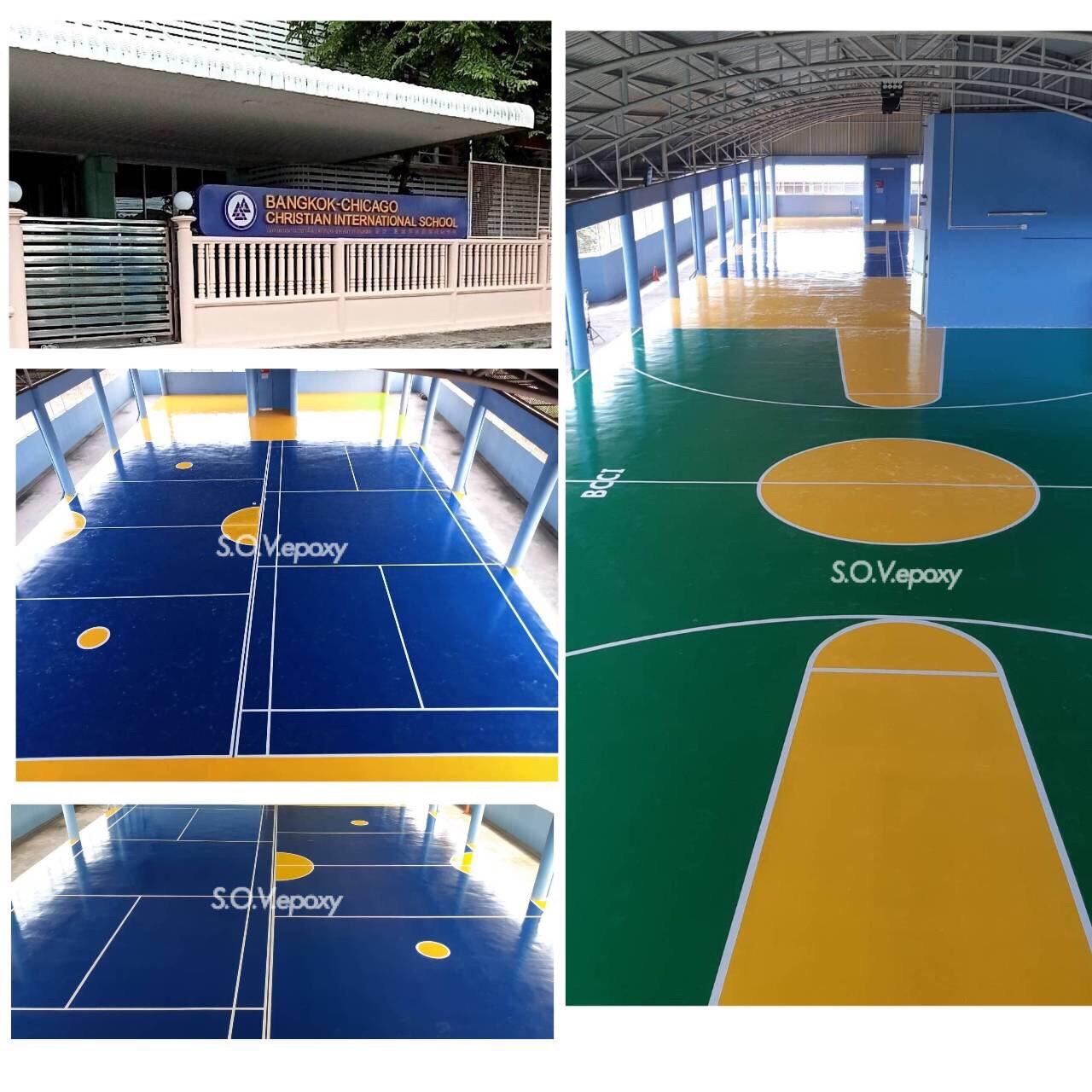 พื้นสนามกีฬา พื้น PU SPORT-Bangkok-Chicago Christian (1)